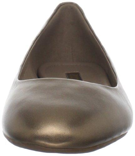 Ecco Mary Femmes Cuir Chaussure Plate Dark Gold