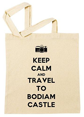 Erido Keep Calm and Travel to Bodiam Castle Einkaufstasche Wiederverwendbar Strand Baumwoll Shopping Bag Beach Reusable -