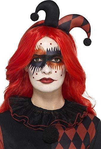 arneval Tv Fest Hofnarr Harlekin Gesichtsfarbe Künstliche Wimpern Edelsteine Glitzer Maskenkostüm Make Up Kit ()