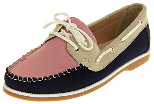 Shoreside Footwear Studio Shoreside Damen Geschlossen Marinenblau/Rosa/Beige EU 39