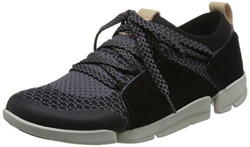 Clarks Damen Tri Amelia Sneaker, Schwarz (Black Combi), 39 EU