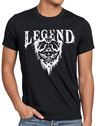 CottonCloud Link Legend Camiseta para Hombre T-Shirt Hyrule Switch NES n64, Talla:XL,...
