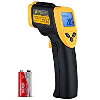 Etekcity Lasergrip 1080 Infrared Thermometer Non-Contact Digital LaserTemperature Gun-58℉~1022℉ (-50℃~550℃), standard, Yellow and Black