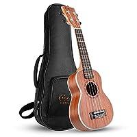 Hricane Ukulele Soprano 21 inch Ukelele Set with Bag Extra Strings for Beginners