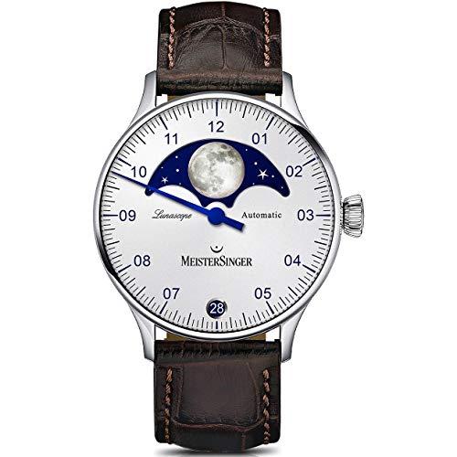 MeisterSinger Lunascope LS901 Reloj automático con sólo una aguja