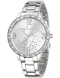 Miss Sixty R0753104502 - Reloj analógico de cuarzo para mujer con correa de acero inoxidable, color plateado