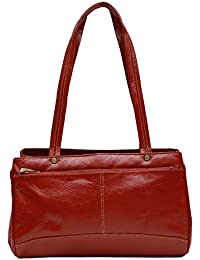 Genuine Leather Women's Hand Bag Red