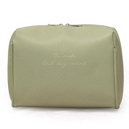 Yanhoo borsa cosmetica, borsetto cosmetico portatile professionale per trucco per viaggio, bellezza borsa cosmetica moda ragazza trucco multifunzione sacchetto (verde)