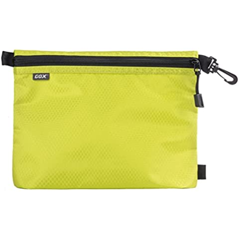 Organizer per Valigia o Zaino, GOX Premium 420D Nylon Borsa con Cerniera Portatile / Borsa Zip / Viaggi Dell'organizzatore di Immagazzinaggio / Borsa Zipper / Organizzatori di Viaggi (Small, Verde) - Cartella Pouch