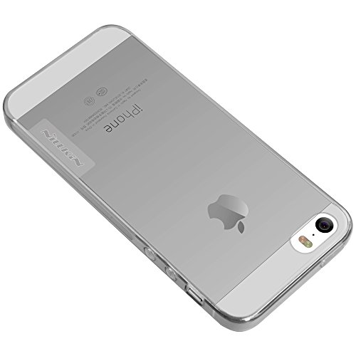 [Accessories Expert] iPhone SE Hülle, Nature Series TPU Hülle Back Cover für iPhone SE - Retail Package -[Transparent Thin Soft],Grau Gray