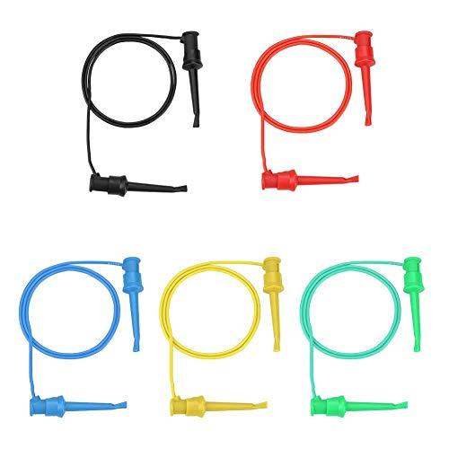 Akozon 5Pcs Cables de prueba para Multímetro Doble Punta SMD IC Silicona