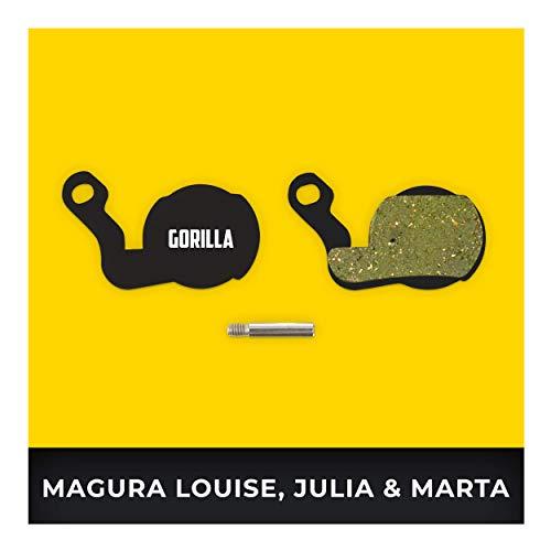 Magura Bremsbeläge Louise ab 2007 Julie HP ab 2009 & Marta ab 2009 Typ 6 für Fahrrad Scheibenbremse I Hohe Bremsleistung I Langlebiger & Passgenauer Bremsbelag I Organischer Belag