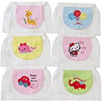 Cartoon Cotton Gasa Sweat Towel Soft 4-layer Yarn Small Square Toalla para bebé (