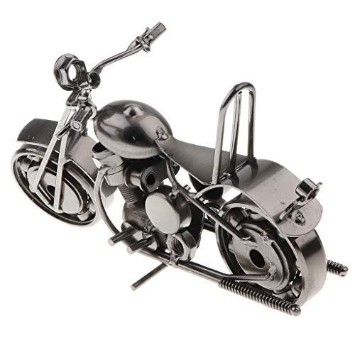 FLAMEER Handgemacht Motorrad Miniatur Modell Skulptur, Geschenk für Geburtstag und Neujahr -
