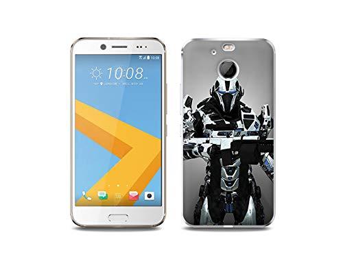 etuo HTC 10 Evo - Hülle, Silikon, Gummi Schutzhülle - Kosmischer Krieger