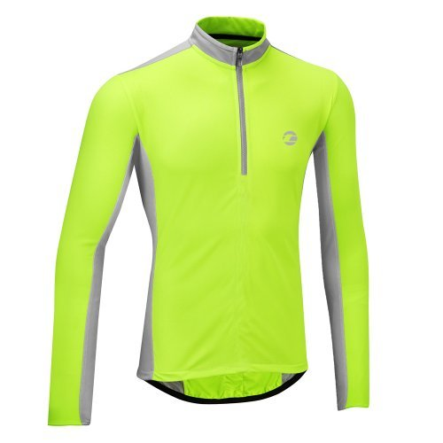 tenn-outdoors-mens-coolflo-long-sleeve-cycling-jersey-hi-viz-yellow-grey-48-50-inch-xxx-large