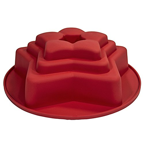 FantasyDay 10'' Star Birthday Cake Mold Silicone Baking Mould for Your Anniversary Cake, Soap, Cookie, Donut, Bread, Loaf, Muffin, Brownie, Cornbread, Cheesecake, Panna Cotta and More