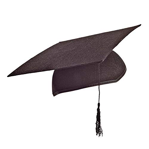 Widmann 1666L - Akademiker Hut aus Filz - schwarz - ca. 56 cm Kopfumfang mit ()