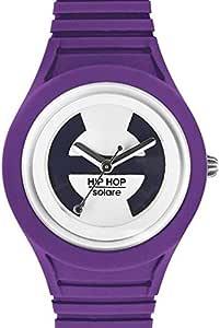 Hip Hop Watches - Orologio da Donna Lady Violet HWU0538 - Collezione Solare - Cinturino in Silicone - Impermeabile 5 ATM - Cassa 34mm - Viola