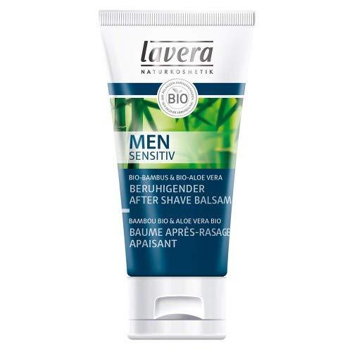 Baume Après Rasage pour Homme Lavera - Soin de la peau naturel - A l'huile de tournesol et d'olive biologique - Apaise la peau irritée - Sans gluten et Végétalien - Par Lavera