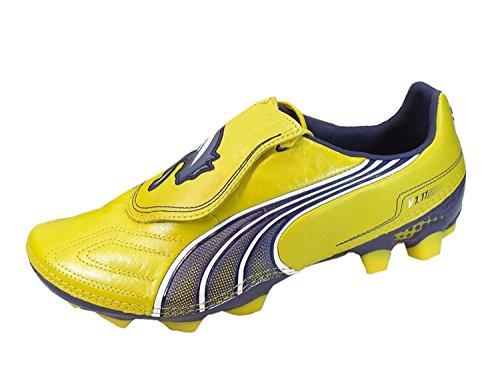 Puma v1.11 K i FG 102327, Scarpe da calcio uomo Giallo - giallo