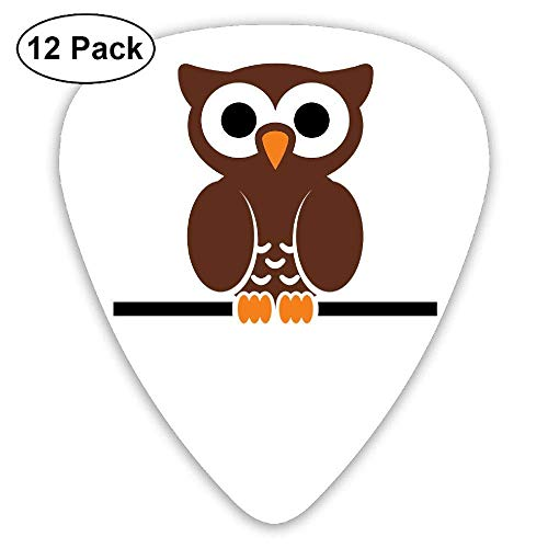 (12 Pack) Cute Owl Player's Pack for Electric Guitar,Acoustic Guitar,Mandolin,Guitar Bass ()