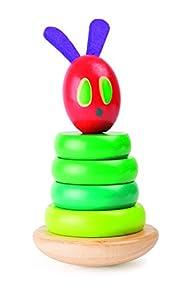 Small Foot by Legler Raupe Nimmersatt apilables Torre de Madera, de un Asunto wackelige, Garantiza para Voltaje y Entrena el Sentido del bebé, SCHULT la motricidad Fina y la concentración