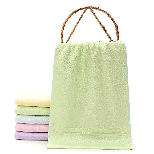 Redhj Barra de Toalla toallero Toalla Anillo Toallas para niños Empleados Regalos Regalos Toallas para niños Fibra de bambú Suave, Verde, 25 × 50