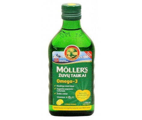 Moller's Fish Oil OMEGA-3 -LEMON- Baby Children Adults