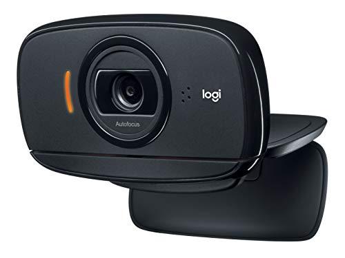 Webcam Logitech C525 Webcam HD Portatile con Messa a Fuoco Automatica, Rapida e con Rotazione Completa a 360 Gradi, Nero