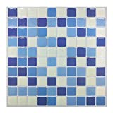 Tile & adesivi in Gel, effetto mosaico, 3D Self-Adhesive Splashback-Piastrelle adesive da parete per cucina/bagno, 10 pezzi