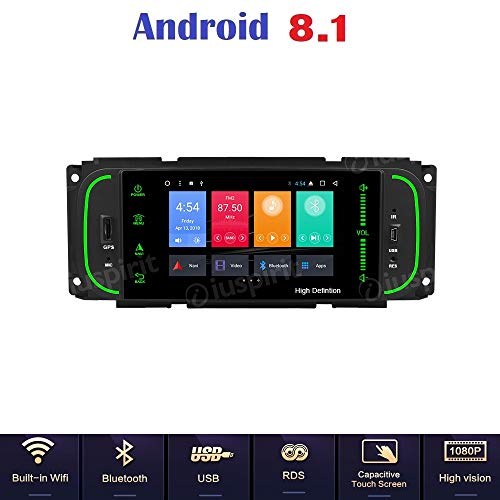ANDROID 7.1 GPS DVD USB SD WI-FI DAB+ MirrorLink Bluetooth autoradio navigatore Jeep Grand Cherokee, Jeep Wrangler, Chrysler 300 M, Chrysler PT Cruiser