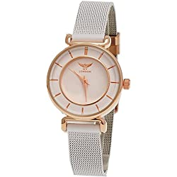 Women's Bracelet White Dial Rose Gold Elegant NY London Designer Ladies 'Watch + Watch Box
