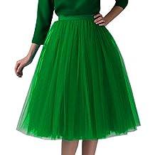 6d071ea27e Amazon.es  falda tul azul - Verde