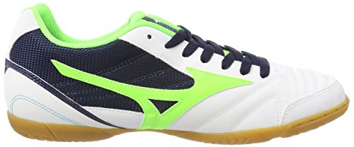 Mizuno Herren Sala Club in Fußballschuhe Mehrfarbig (Whitegreengeckodressblue)