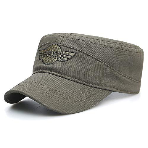 zlhcich Flat-Top-Hut Männer und Frauen lässig europäischen und amerikanischen Militärmützen Flut Sonnenschutz Visier Cap Armee grünen Code