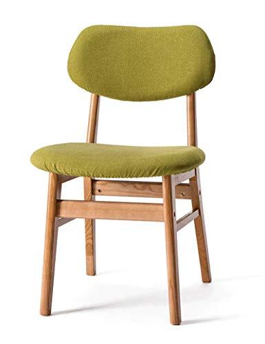 LWTNB STOOL Massivholz-Stuhl-moderner minimalistischer Schreibtisch-Stuhl-Restaurant-Ausgangslehne-Hotel-Speisetisch und Stuhl-waschbarer speisender Stuhl ONLY Sold by LWTNB (Color : B) - Runde Holz-finish Stuhl