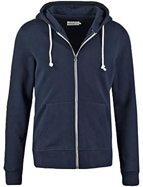 Pier One Herren Sweater Jacke aus 60 % Baumwolle • Sweatjacke mit Kapuze • Zip Hoodie mit hochwertigem Reissverschluss...