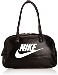 Nike Heritage SI Shoulder Club - Bolsa unisex, color negro / blanco, talla única