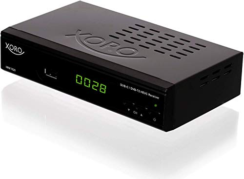 "Xoro HRM 7620 Full HD \""HEVC DVB-T/T2/C\"" Kombi Receiver (HDTV, HDMI, SCART, Mediaplayer, USB 2.0, LAN, PVR Ready) schwarz"
