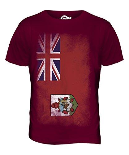 CandyMix Bermuda Verblichen Flagge Herren T Shirt Burgunderrot