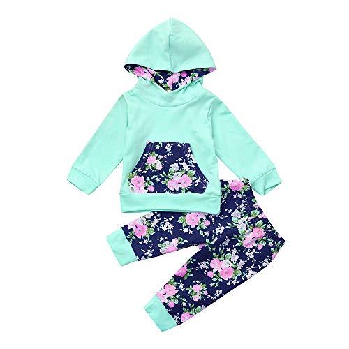 Beikoard Baby Born Kleidung Set 2er Set Kleidung Mädchen herzförmigen Sketch Print Kapuzenpullover Herbst Baby Kleidung