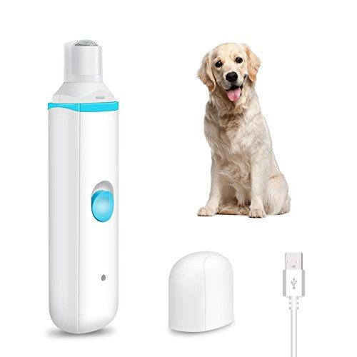 CLEEBOURG Pet Nagel Trimmer Elektrische Hund Nail Grinder USB Wiederaufladbar Cat Nail Clipper f¨¹r sanftes Trimmen & Gl?tten Pet Nail Grinder