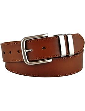 Ossi 38mm cinturón piel con refuerzo negro o marrón o tan (tamaños 81cm - 152cm)