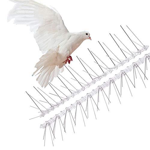 winnerruby Vogelabwehrmittel Umweltfreundliche Edelstahl Vogel Taube Spikes Nägel Anti-Vogel Spikes Vogel Control Zaun Sicherheitskontrolle Abschreckungs Kit 6pcs 50cm -