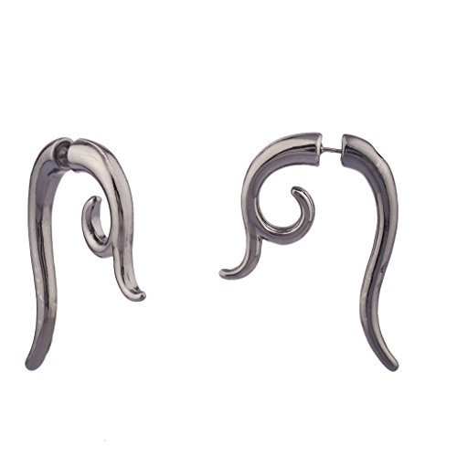 lux-accessories-spiral-claw-gunmetal-stud-earrings