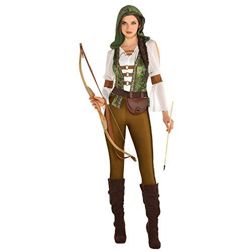 amscan Robin Hood Jägerin Kostüm für Damen, Größe 16 bis - Jägerin Kostüm Damen