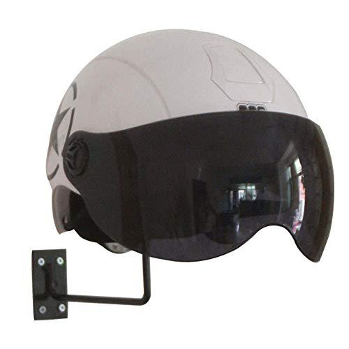 SparY Motorradhelm-Halterung, Helmhalterung, vielseitig einsetzbar, Hutständer, Helm-Display, Wandmontage, Eisen, Schwarz, Free Size