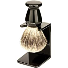 Edwin Jagger 1EJ946SDS - Brocha de afeitar con cerdas de tejón puro color: Negro