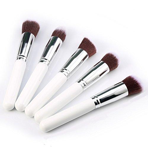 Kelis 5 Pcs / Set Gros Kit De Brosse À Maquillage Mixage De La Fondation Cosmétique (blanc argenté)